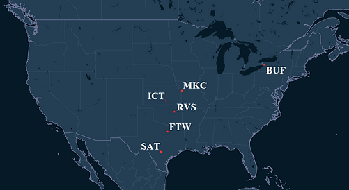 Airshare Pilot Bases Map