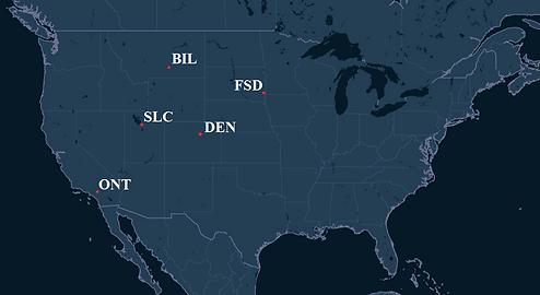 Alpine Air Express Pilot Bases Map