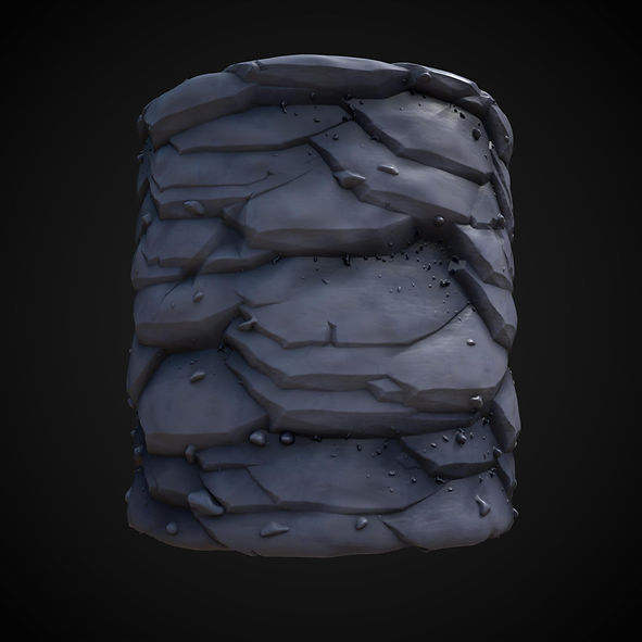 stylized cliff material