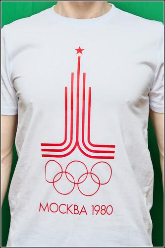 Футболка слоготипом олимпиада 80 заказать в Домодедово