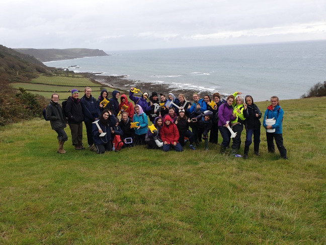 Braving the wind and rain in Slapton - Our A2 Biology Field trip