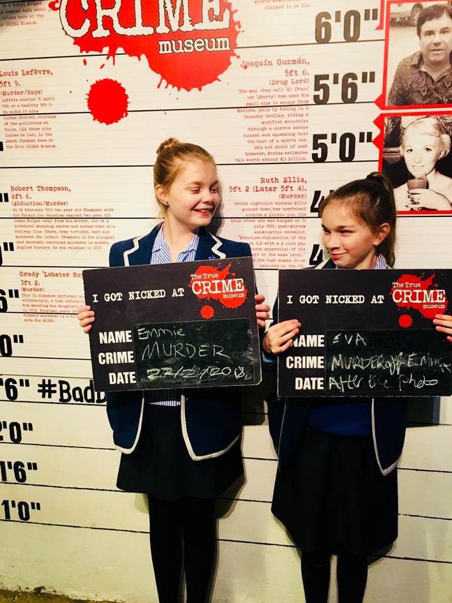 Our first Forensics Club outing to the True Crime Museum in Hastings