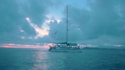 Sunset cruise catamaran