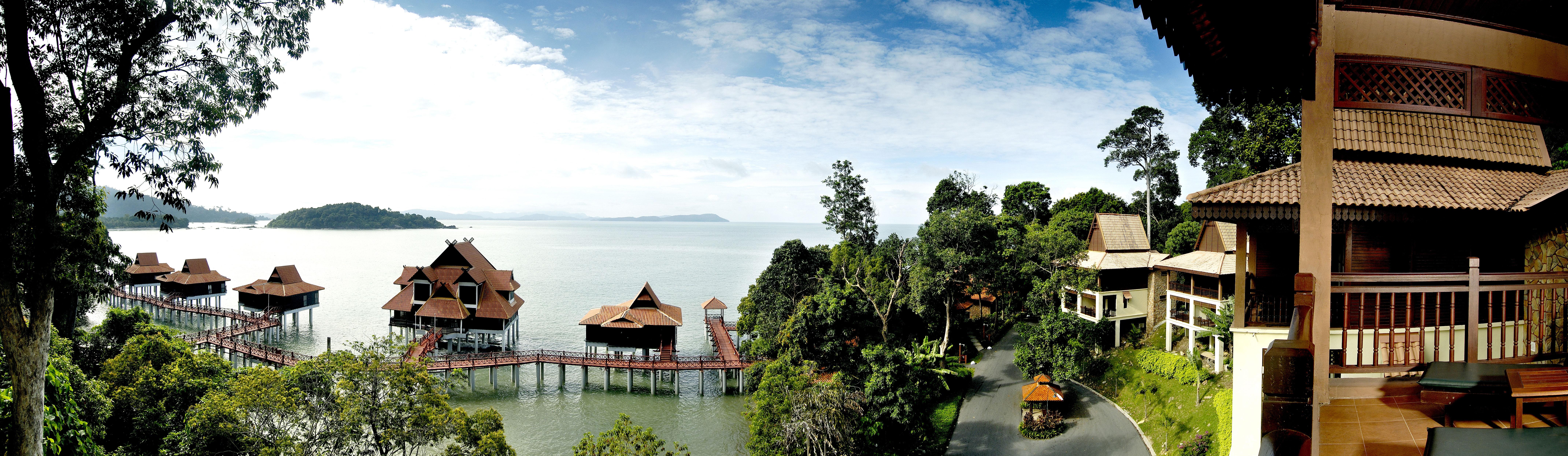 Berjaya-Langkawi-Resort-Resort Aerial View - Land & Water Chalets