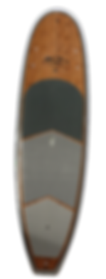 PCG stand up Paddle board features  5 fins, 8 deck tie downs, hi grade deck pad, camera and leash plug, durable PC and wood construction . 800 969 7473