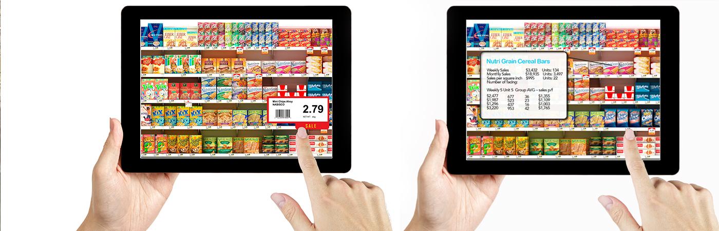 Retail shelf compliance robot, Toronto Canada, 4D Technologies