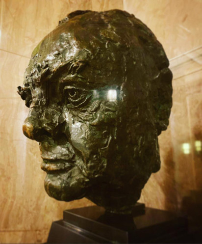 RARE AND VALUABLE BRONZE BUST OF SIR WINSTON CHURCHILL