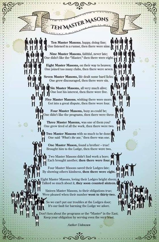 Ten Master Masons