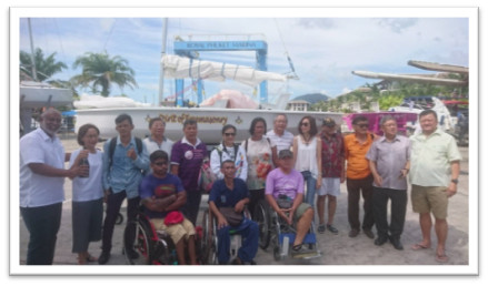 DISABLED SAILING' THAILAND.  'Sailing with a Difference'