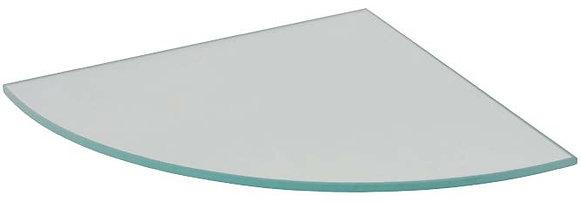 מדף זכוכית רבע עיגול - כולל תופסנים