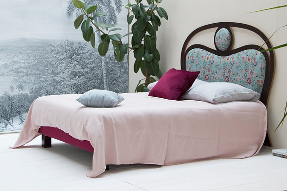 Tête de lit Suzanne Bleu aperçu profil