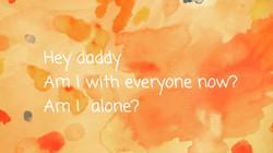 ねえ パパ いま ぼくは みんなと いっしょなの? ひとりぼっちなの?