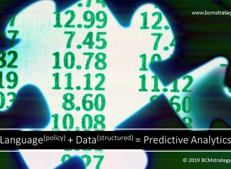 Why (Language)policy + (Data)structured = Predictive Analytics  [Part 1 of 4]