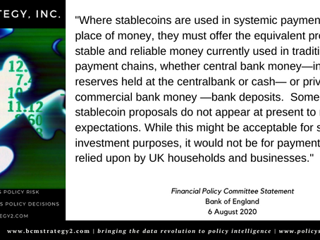 Stablecoins and the Bank of England -- The FPC Speaks