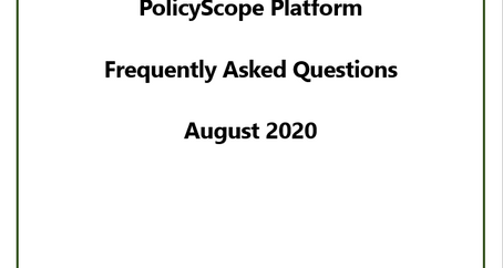 Public Policy Data -- Updated FAQs