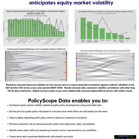 Anticipating Market Volatility with PolicyScope Data