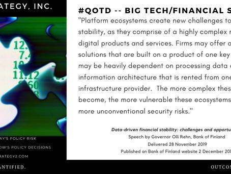 QOTD -- Big Tech & Regulation