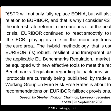 QOTD -- LIBOR: ESMA Speaks