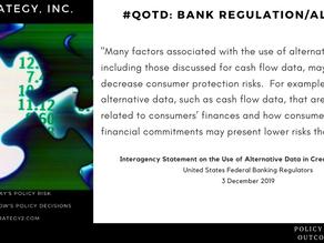 #QOTD -- Alternative Data & Banking Regulation