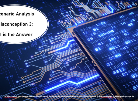 Scenario Analysis Misconceptions (3 of 3): AI is the Answer