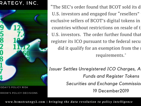 #QOTD -- ICO Regulation