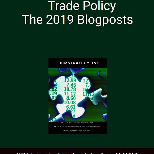 Trade Policy Trends and Tensions 2019