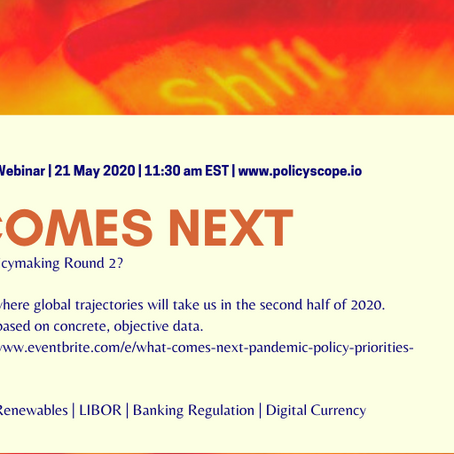 Webinar Announcement: Pandemic Policymaking Priorities (Round 2)
