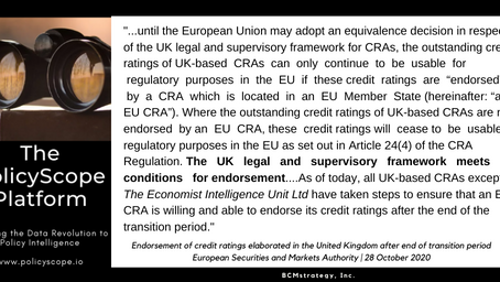 QOTD -- Brexit, Equivalence & credit ratings