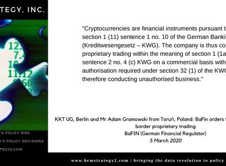 QOTD -- Cryptocurrency Regulation