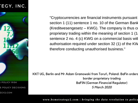 QOTD -- Cryptocurrency Regulation