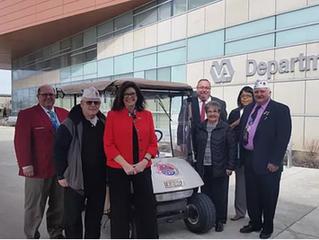 AMVETS donates golf cart to Columbus VA