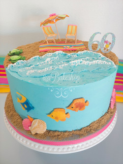 Beachy Birthday Cake