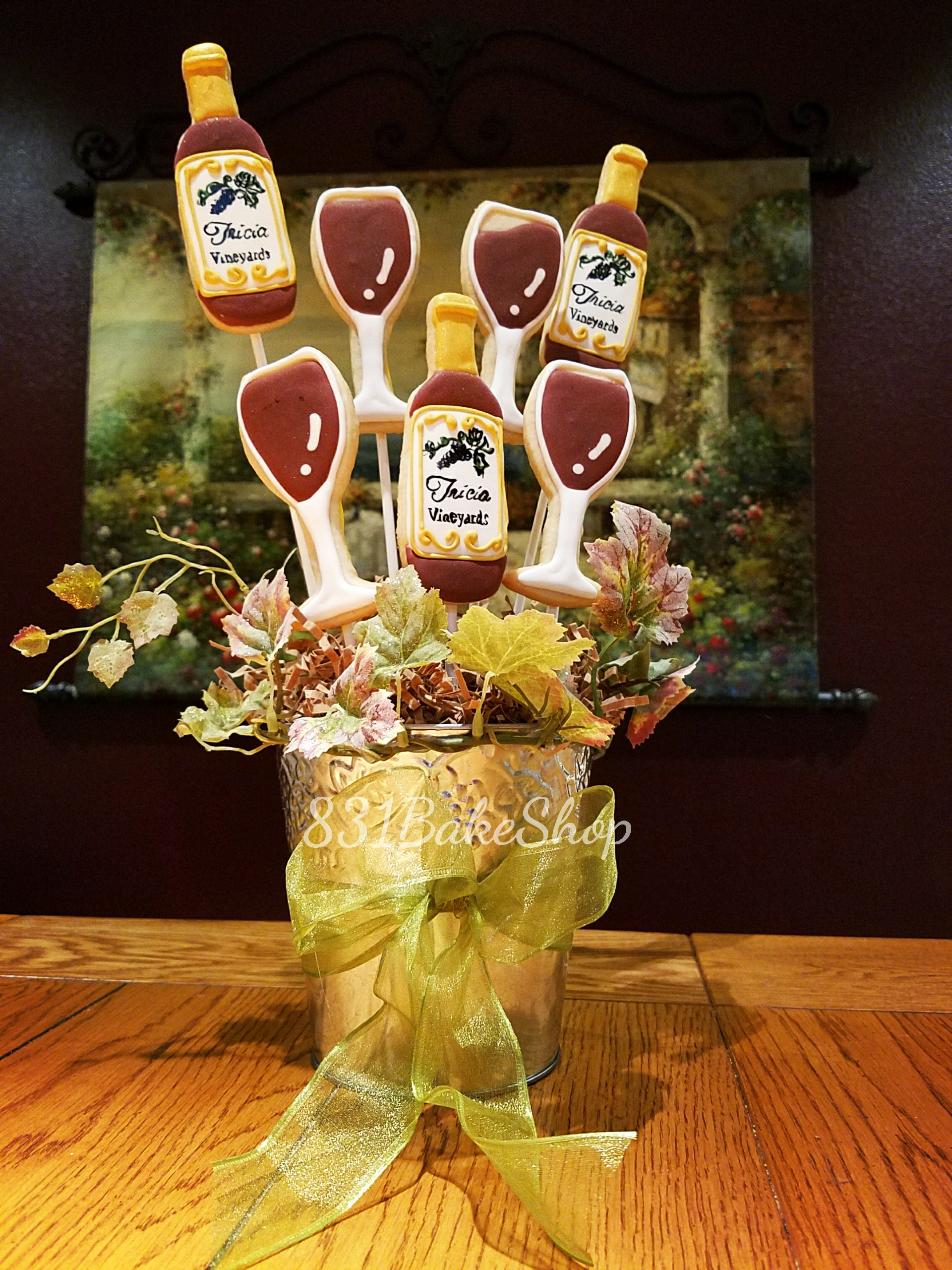 Wine Lover's Cookie Bouquet