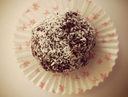 Chocolate coconut balls