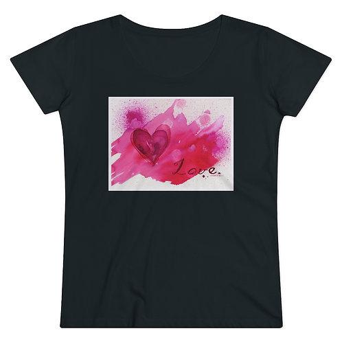 RKAS Love Pink Organic Women's Lover T-shirt