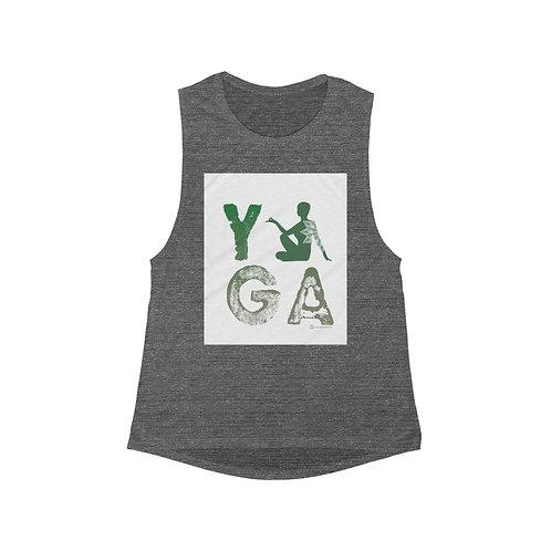 RKAS YOGA Green Women's Flowy Scoop Muscle Tank