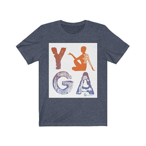 RKAS YOGA Orange/Blue Unisex Jersey Short Sleeve Tee