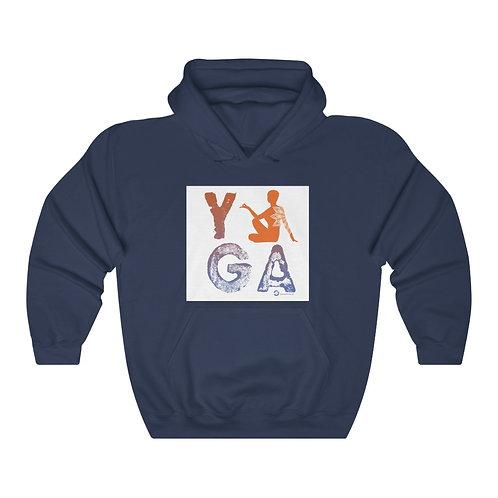 RKAS YOGA Orange/Blue Unisex Heavy Blend™ Hooded Sweatshirt