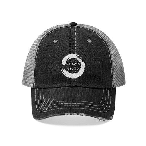 RKAS WHITE LOGO Unisex Trucker Hat