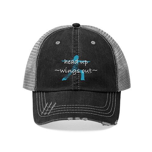 RKAS HEAD UP-WINGS OUT Unisex Trucker Hat