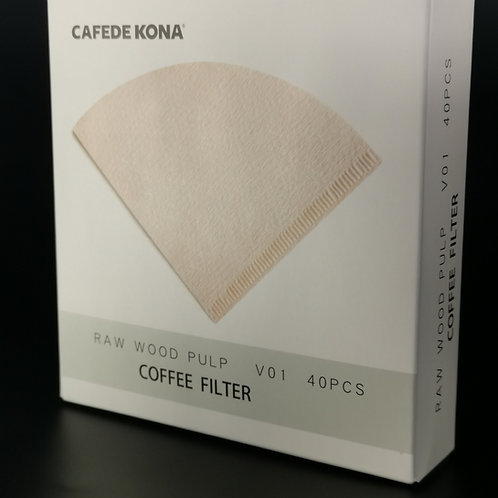 Filter Paper, Natural wood pulp, 40pcs/pack, by Cafede Kona