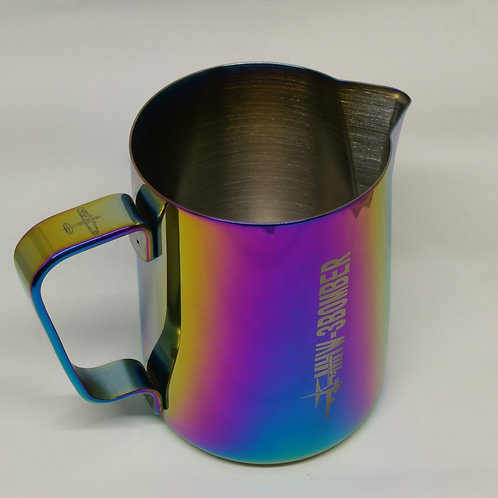 Latte Art Anodised Milk Pitcher, 600ml (20oz), sharp spout