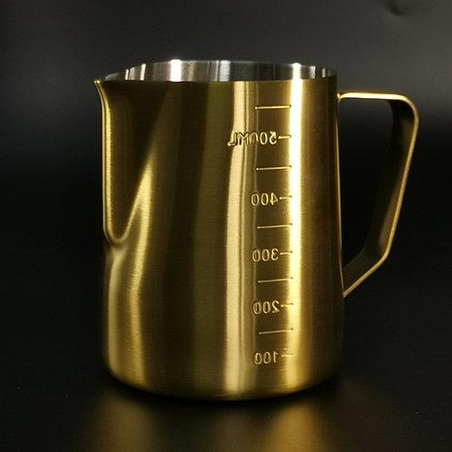 Latte Art Milk Pitcher 600ML, Golden, by Cefede Kona