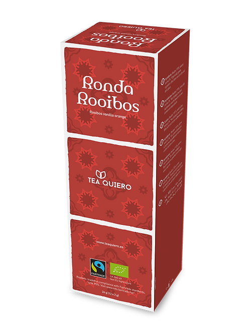Tea Quiero, Ronda Rooibos, Organic, Fair-trade, Premium Tea ( 12bags/box))