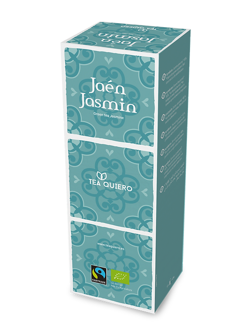 Tea Quiero, Jasmin Green Tea, Organic, Fair-trade, Premium Tea ( 12bags
