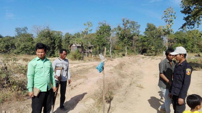 Road construction in Koh Ker, Cambodia