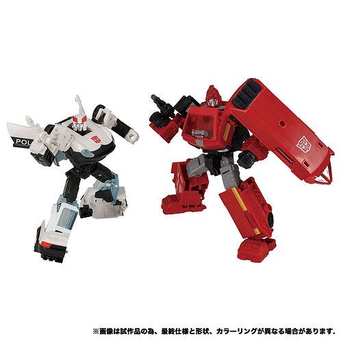 Takara Tomy Transformers Earthrise ER EX-18 Ironhide & Prowl Japan version