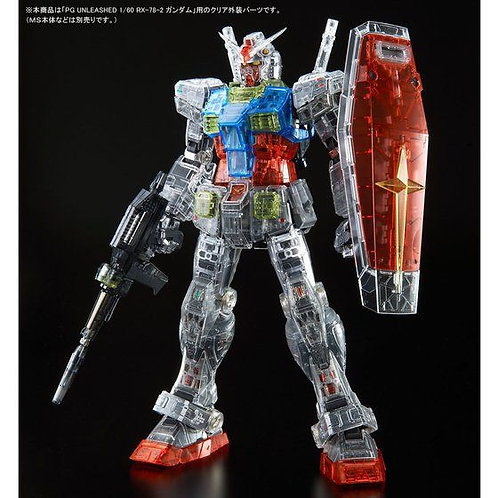 PG UNLEASHED RX-78-2 Gundam Clear Color Body 1/60 scale Japan version