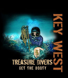 Treasure Divers Get All the Booty - t shirt S-XL
