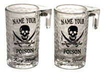 SHOT GLASSES: NAME YOUR POISON SIDECAR (2 QTY)